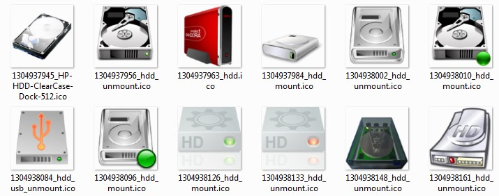 Icons HDD