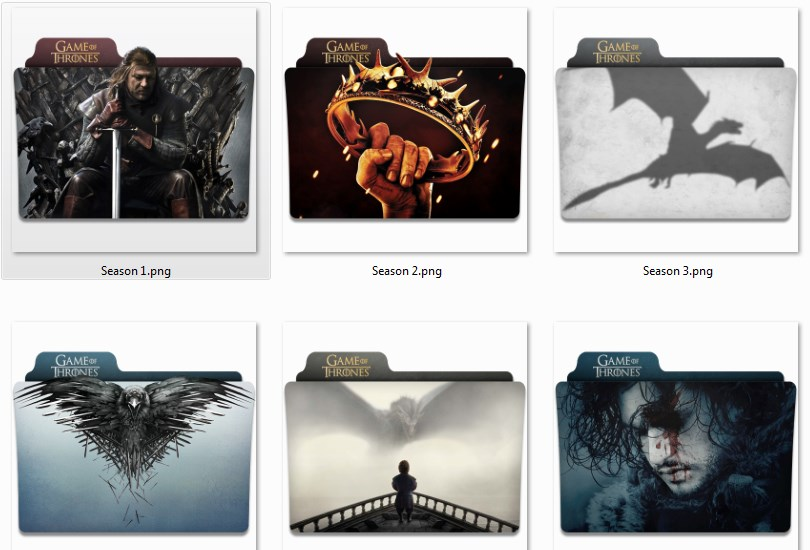 Game of thrones Folder (Значки - Игра престолов)